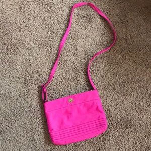 Kate Spade pink nylon crossbody